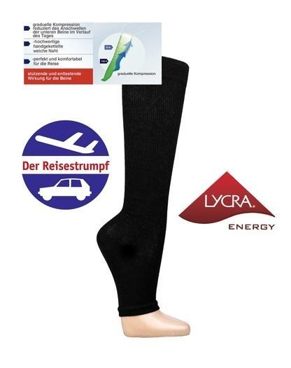 LYCRA® Energy Stützkniestrumpf Ohne Fußspitze * 2er-Bündel - null