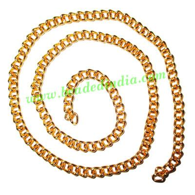 Gold Plated Metal Chain, size: 1x4mm, approx 26.7 meters in  - Gold Plated Metal Chain, size: 1x4mm, approx 26.7 meters in a Kg.