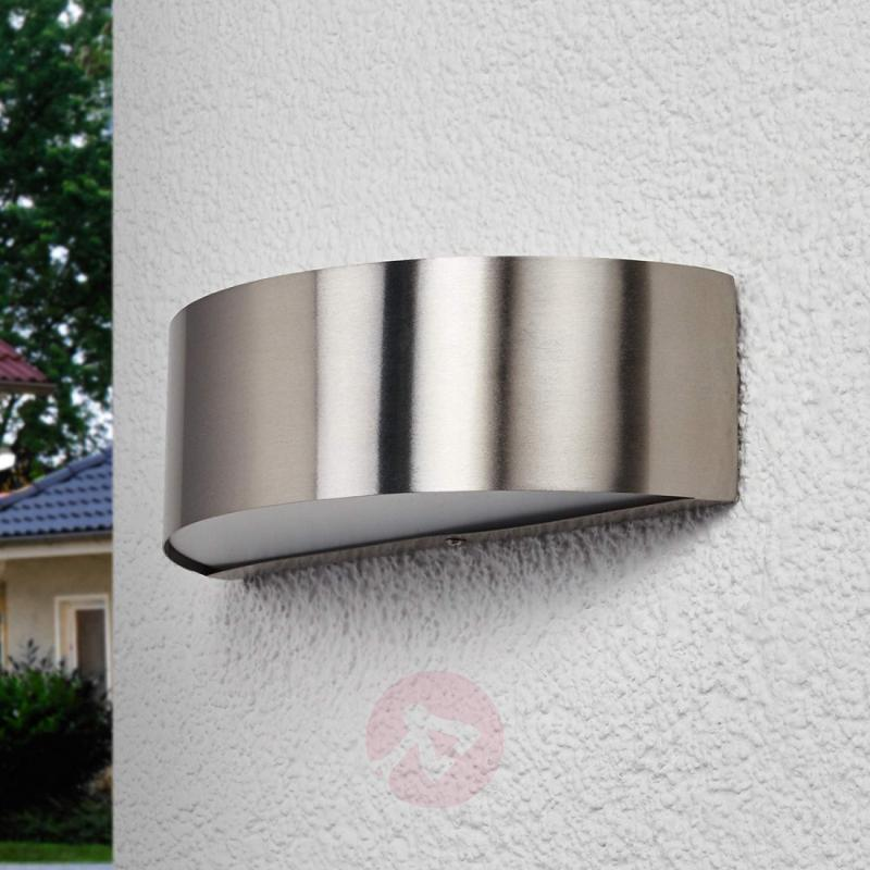 Stainless steel outdoor wall light Nadia with LEDs - stainless-steel-outdoor-wall-lights