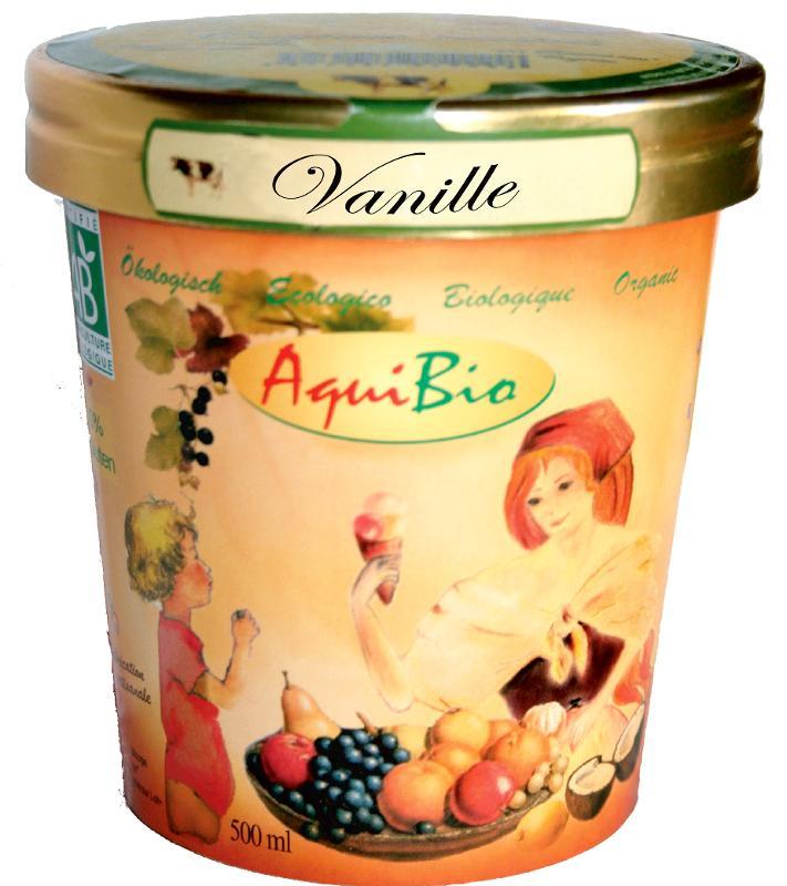 Crème glacée vanille - Glace biologique