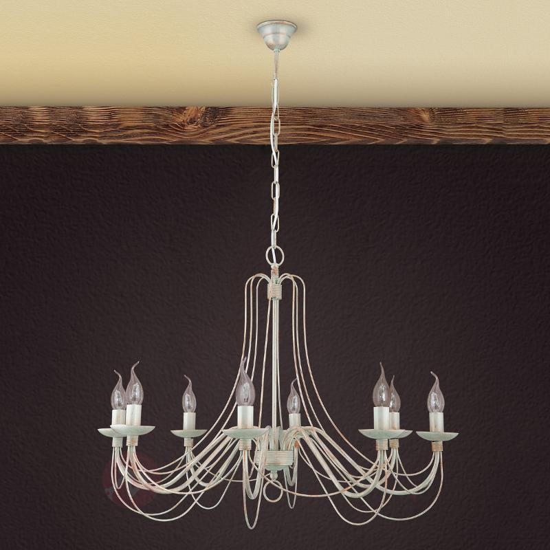 Lustre Antonina 8 lampes, chaîne suspente - Lustres rustiques