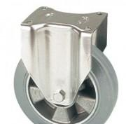 Roulettes bandae caoutchouc élastique vulcanisé gris -