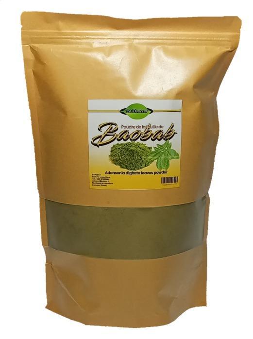 Poudre de feuilles de baobab - 1kg de Poudre de feuilles de baobab pure, 100% naturelle et biologiques