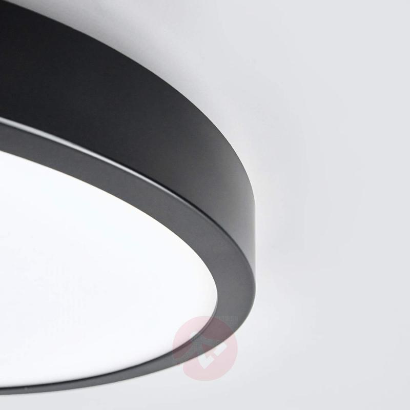 Black Liyan LED ceiling light, IP54 - indoor-lighting