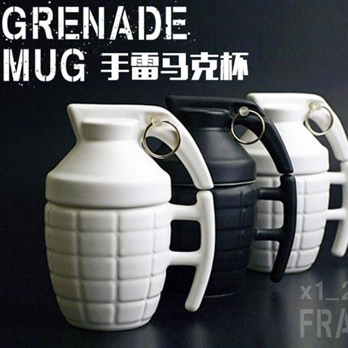 280ML Creatives Grenade Coffee Mugs Practical Water cup with Lid - 3D Mug