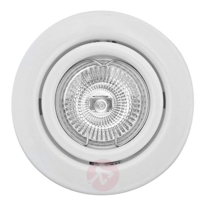 Swivelling low volt recessed spotlight SOKE white - Low-Voltage Spotlights