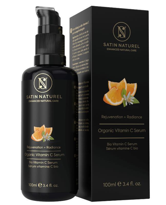 Organic Vitamin C Serum With Hyaluronic Acid - 50ml  - High-Dosed -30% Vitamin C Double Complex, Vitamin E & Aloe Vera -Made in Germany