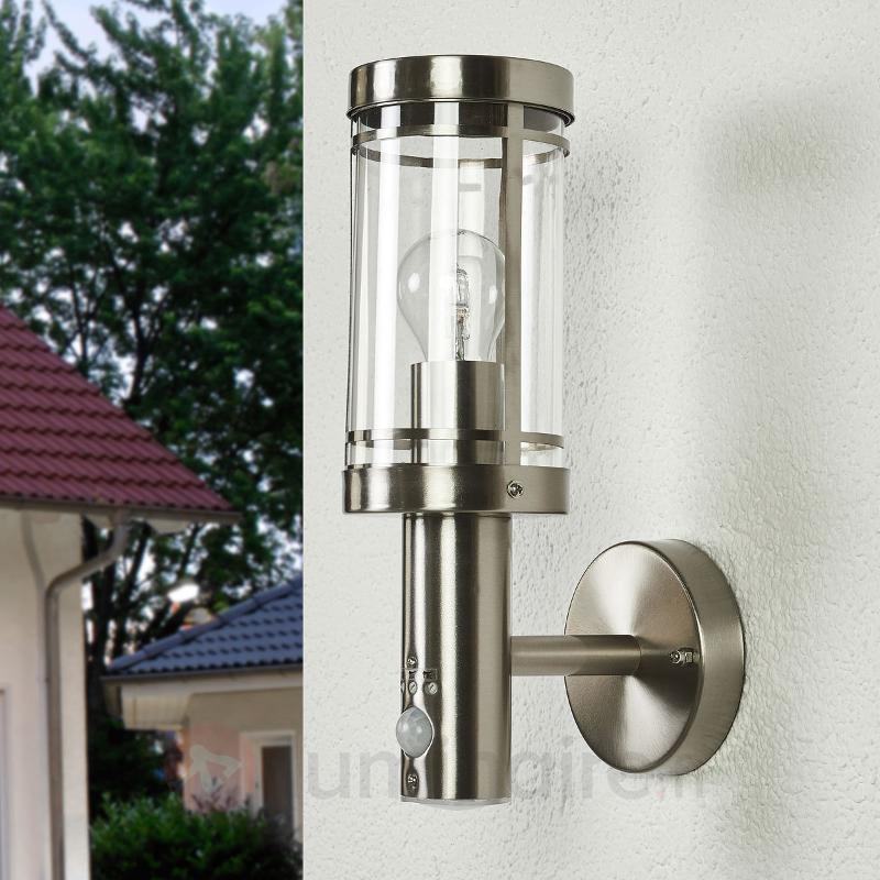 Applique à détecteur Djori pour l'extérieur, inox - Appliques d'extérieur avec détecteur