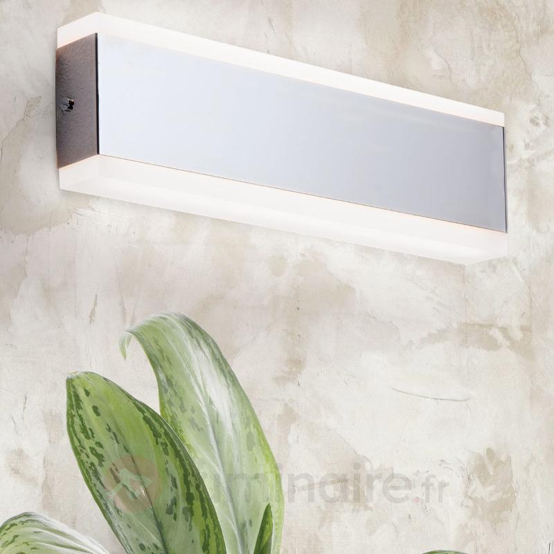 Applique LED rectangulaire Garik, chromée - Appliques LED