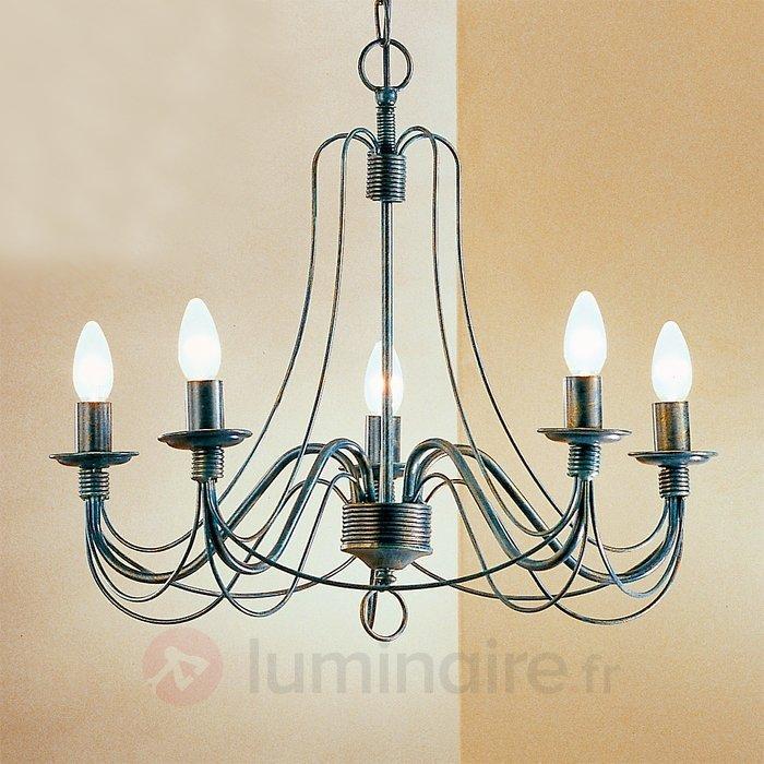 Lustre CLARA au style rustique, 5 ampoules - Lustres classiques,antiques