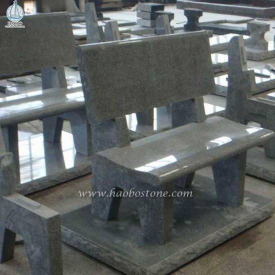 Grey Granite Grave Bench Monuments - Monument Bench