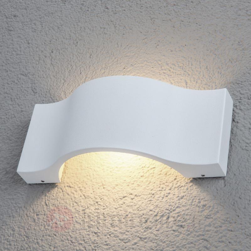 Très belle applique d'extérieur LED Jace blanche - Appliques d'extérieur LED
