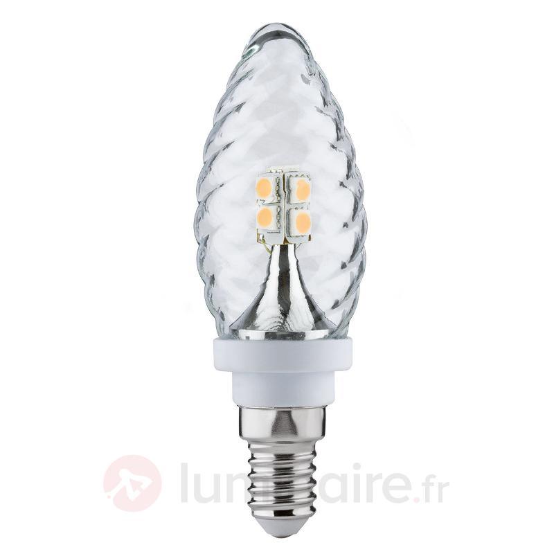 LED flamme tournée E14 2,5W 827, blanc chaud - Ampoules LED E14