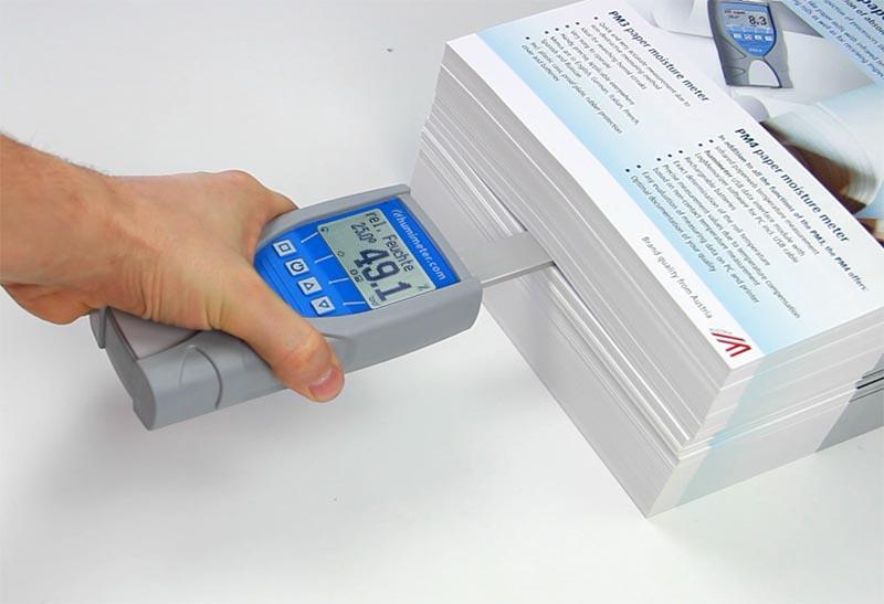 Papierfeuchtemessgerät mit Schwertfühler - humimeter RH5