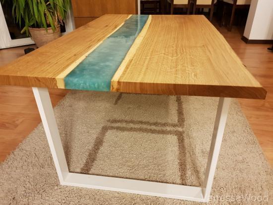stoliki kawowe - stoły z żywicą
