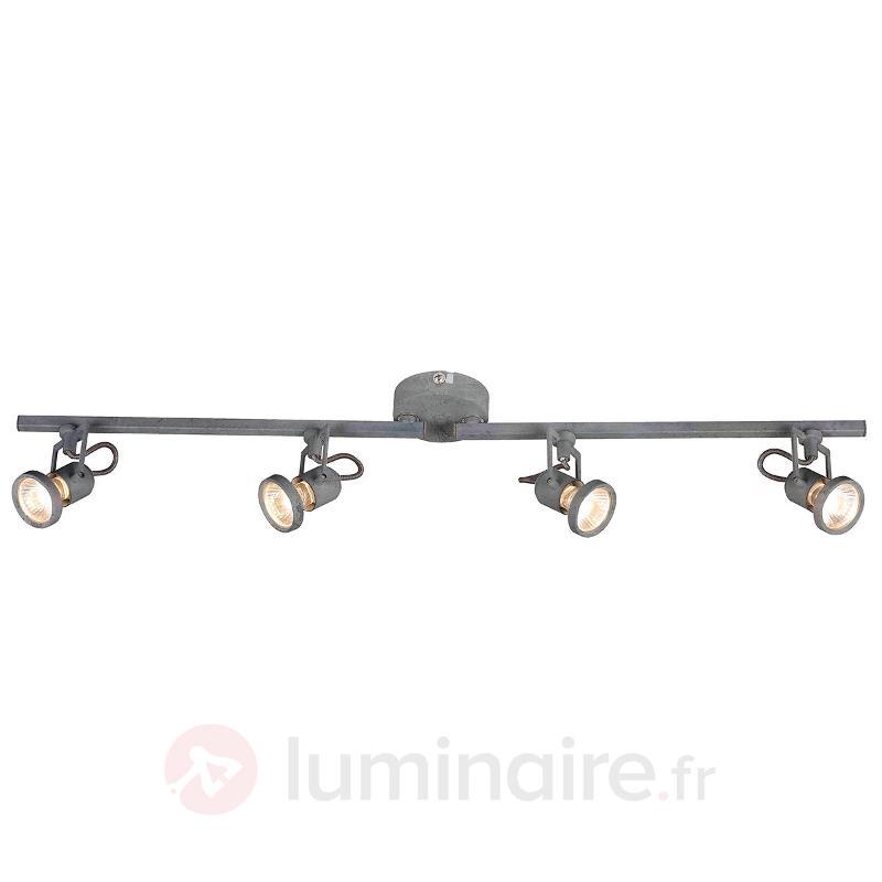 Plafonnier LED Concreto ajustable, 4 lampes - Spots et projecteurs LED
