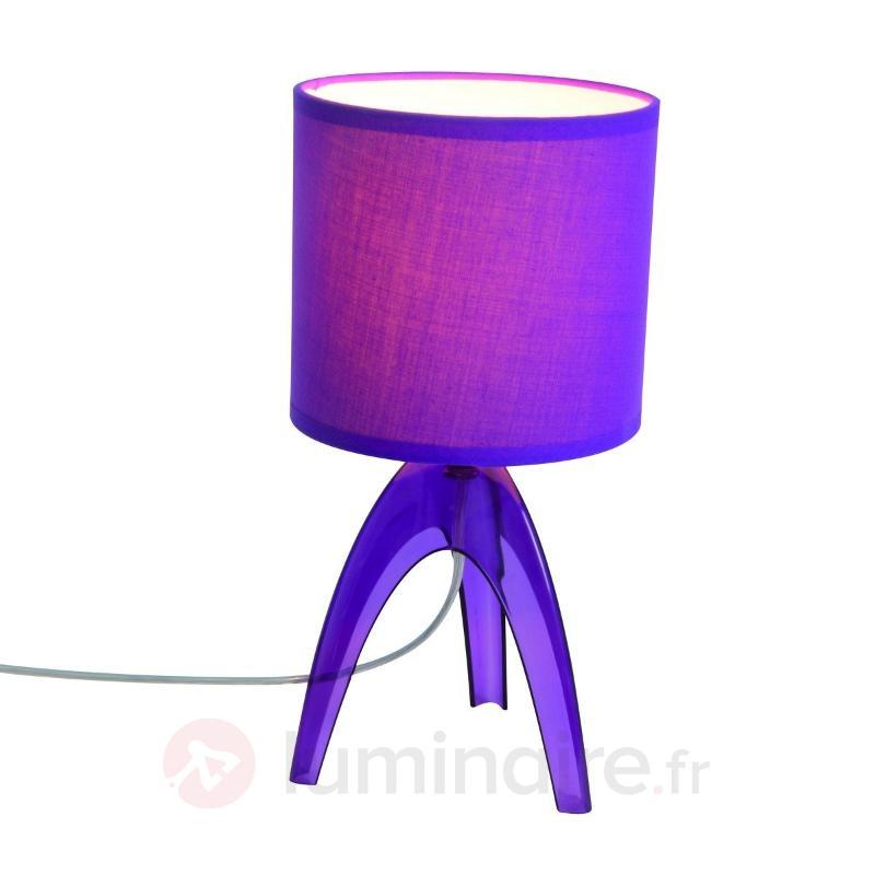 Lampe à poser tendance Ufolino violette - Lampes de chevet