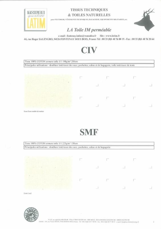 CIV & SMF - Toiles naturelles