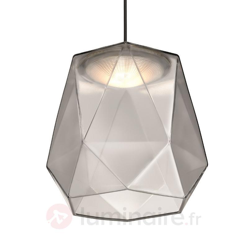 Suspension LED Italo en verre gris - Suspensions LED