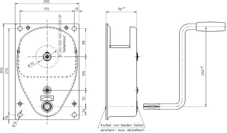 Treuils manuels - Treuil manuel à câble 250kg et 500kg