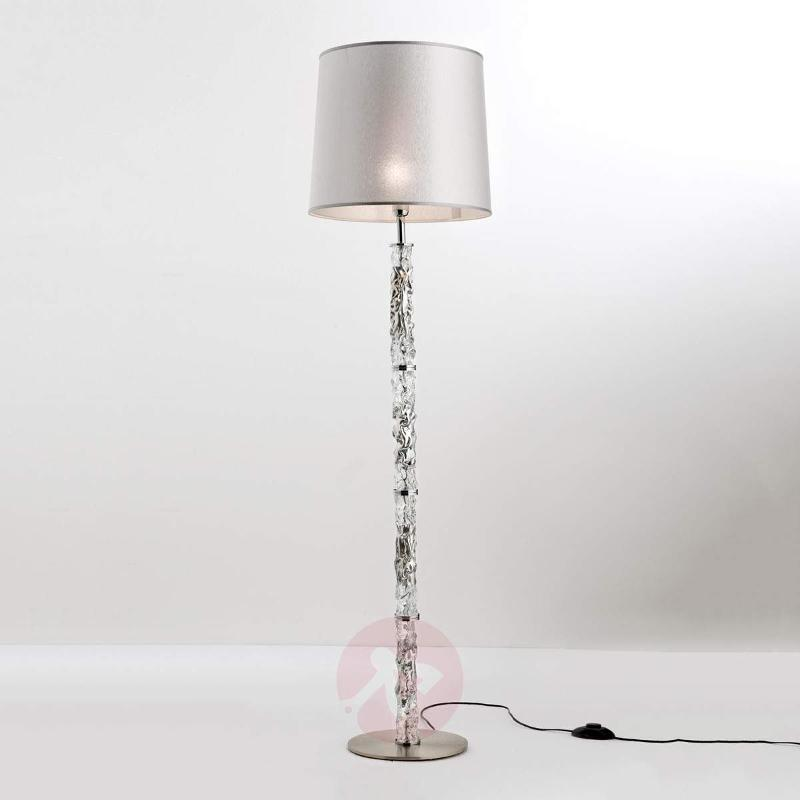Glamorous fabric floor lamp Ilvy - Floor Lamps