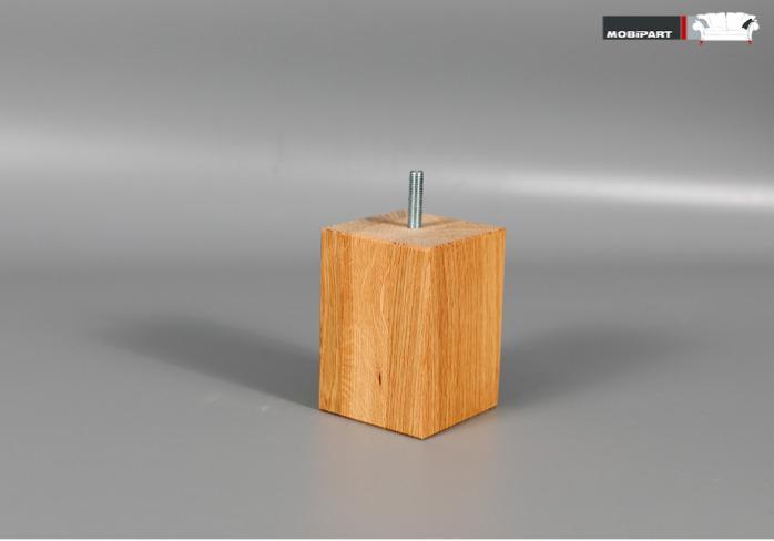 Set 4x Picior Canapea / Fotoliu / Mobila - Blok 100 STEJAR  -