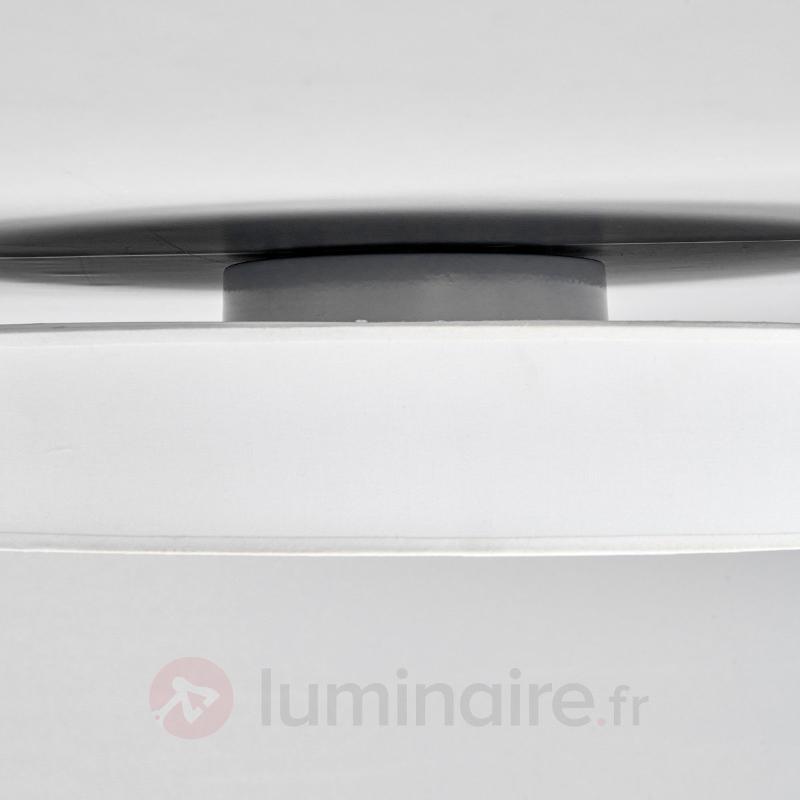 Grand plafonnier blanc LED Saira en tissu - Plafonniers en tissu