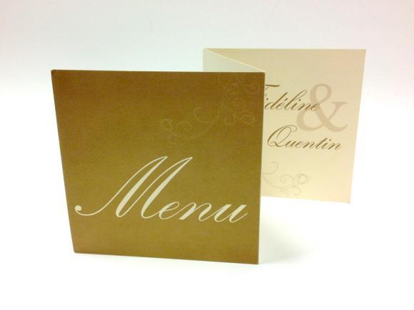 Menus, tarifs - Impression offset et digitale