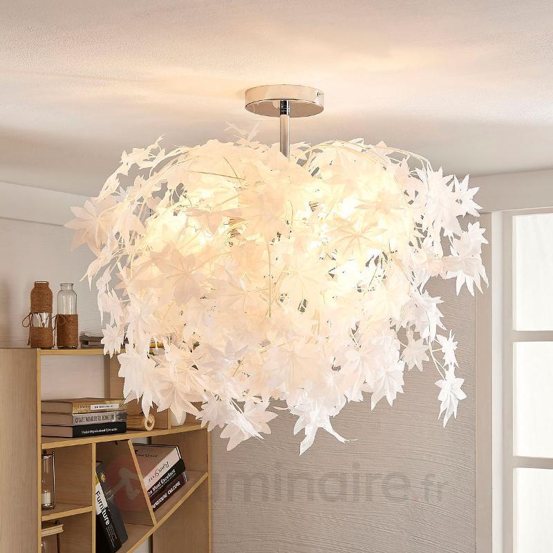 Magnifique plafonnier Maple avec feuilles - Plafonniers en tissu