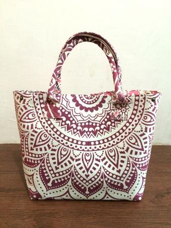 100% Cotton Girls Handbag Throw