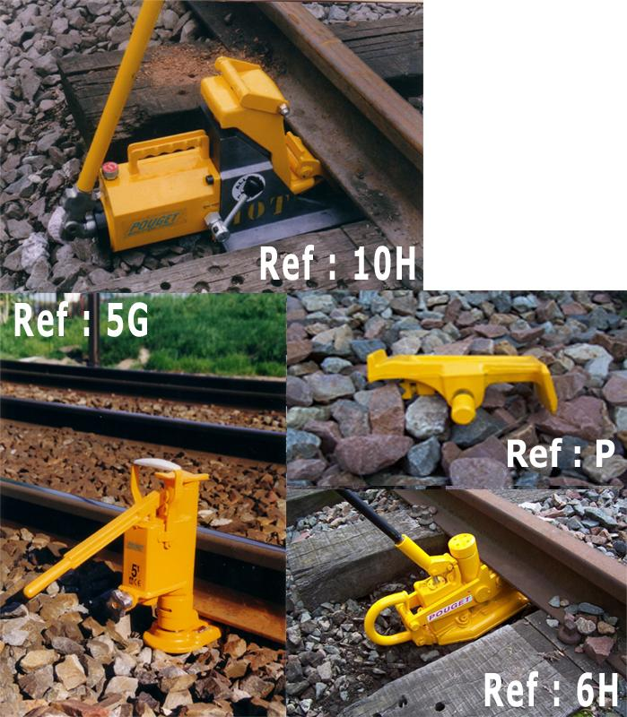 Track Lining and Leveling Equipment - Hydraulic Rail-Lifting Jacks