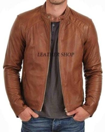Leather jackets for men Light brown
