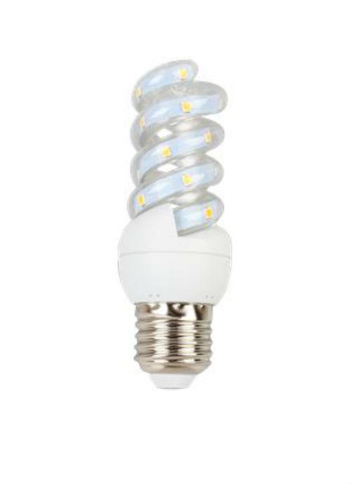 Lampadine LED a spirale E27 - 5W trasparente 3000/6400K 450/480/490lm