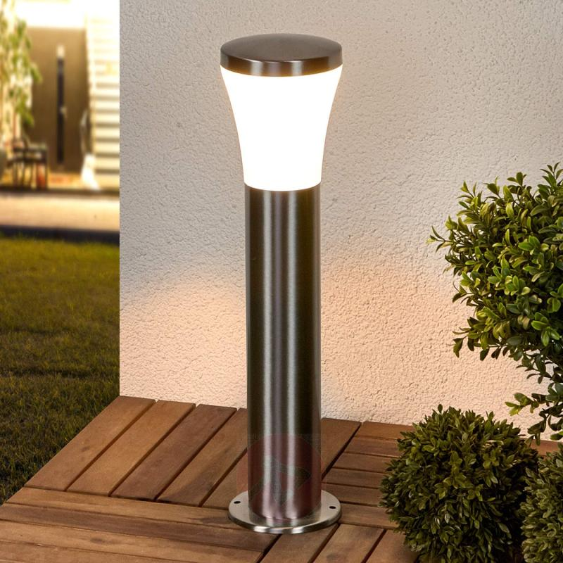 Pillar lamp Sumea with LEDs - outdoor-led-lights
