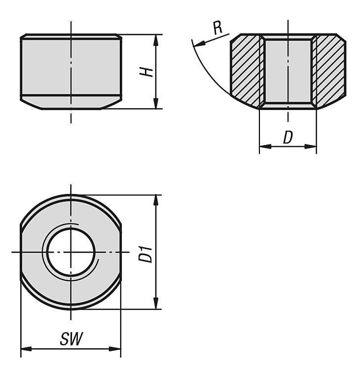 Spherical Seating Nuts - K0664