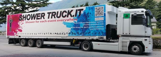 Showertruck - Camion con 22 docce per eventi sportivi  e manifestazioni
