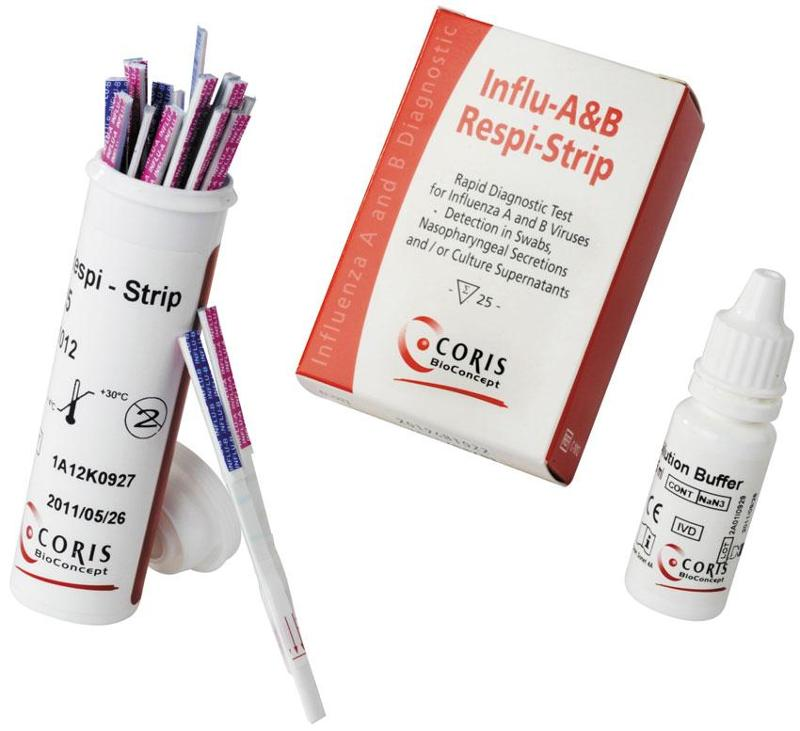 test -Dipstick- for detection of Influenza A & Influenza B Viruses - null