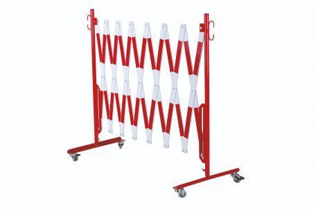 Barrière Extensible Rouge-blanc 4m Avec Rouleaux De Deux Côtés - Barrières De Sécurité