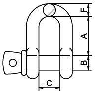 Manilles de levage - Manille droite axe à visser en INOX