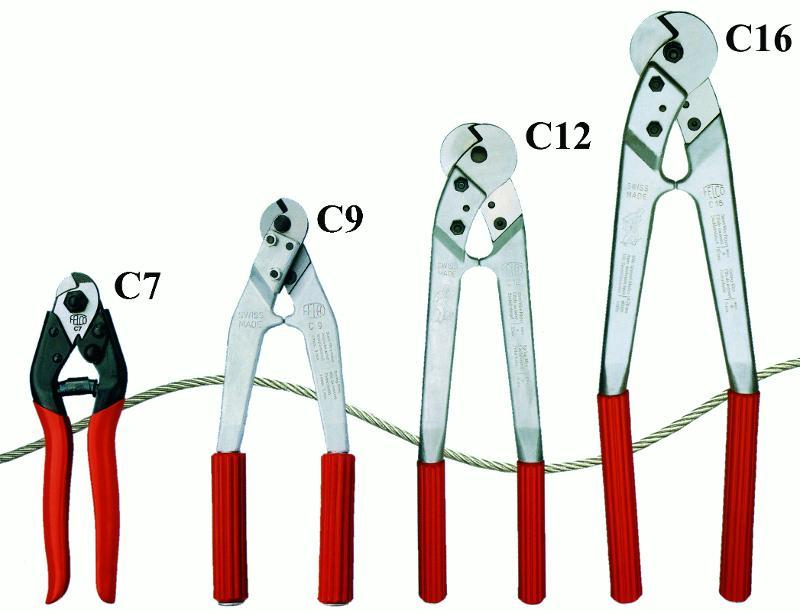 Pinces à sertir et coupe-câbles - Pinces coupe-câbles FELCO (jusqu'à 16 mm de diam.)
