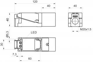 inductive sensor DC - KJ40-Q40KN-DPU