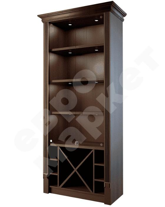 WOOD DISPLAYS - Cabinet for fine spirits with glass doors and sections