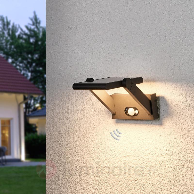 Applique d'extérieur LED solaire Valerian - Lampes solaires avec détecteur