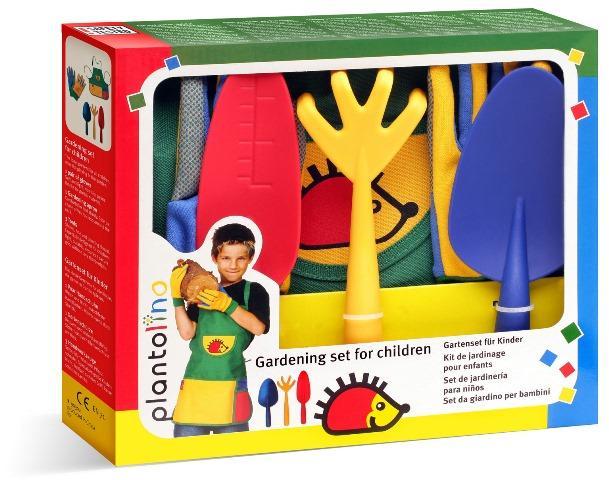 """Kinder Gartenspielzeug """"plantolino"""", 5-teilig - Pädagogisch wertvolles Kinderspielzeug für den Garten"""