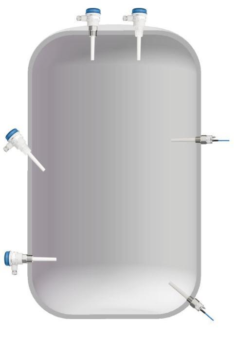 Capanivo® CN 7000 - Interrupteur capacitif  - Détection de niveau limite dans les liquides, les boues, la mousse, interfaces e