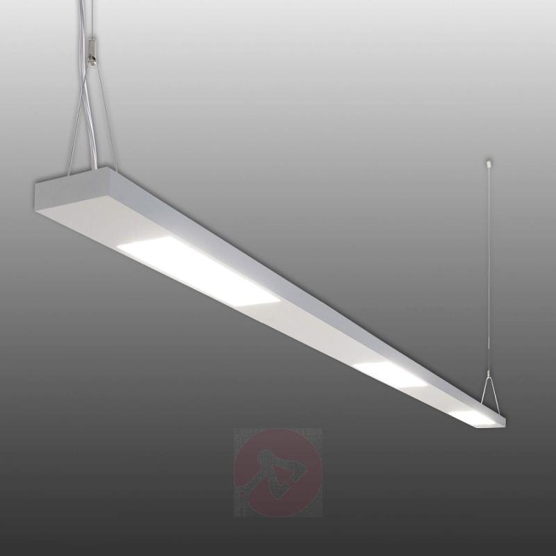 Aluminium LED hanging light Purist, 63 W - design-hotel-lighting