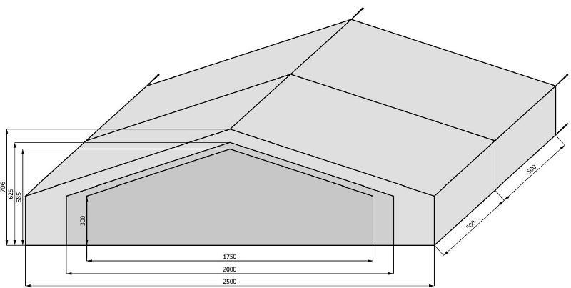 Tentes et chapiteaux traditionnels - Tentes traditionnelles - largeur 17m50 à 25m