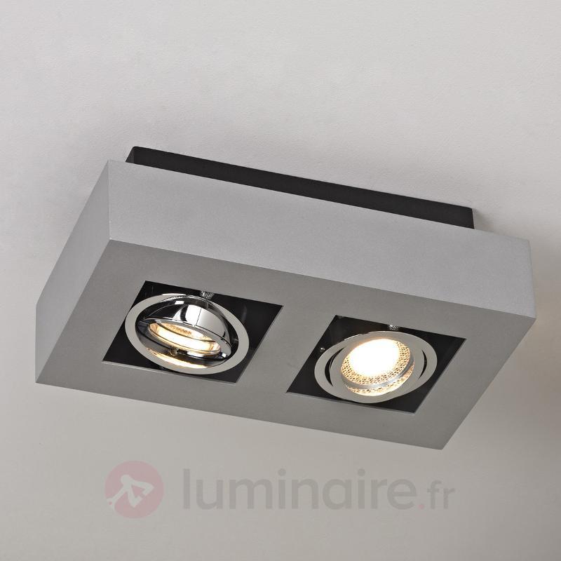 Plafonnier LED Vince à 2 lampes - Plafonniers LED