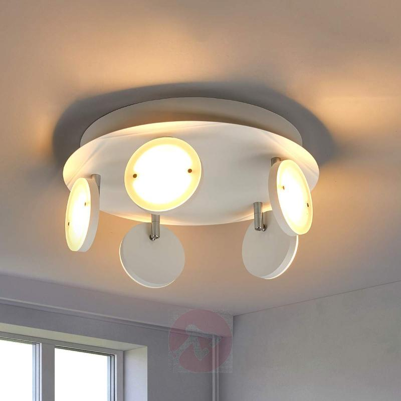 Round ceiling light Tina with dimmable LEDs - Ceiling Lights