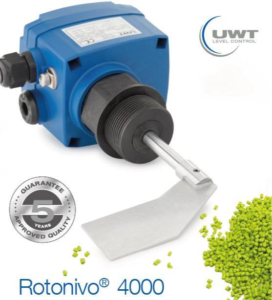 Interruptor de nivel de paleta giratoria Rotonivo® RN 4000 - Detector de nivel lleno, vacío o intermedio